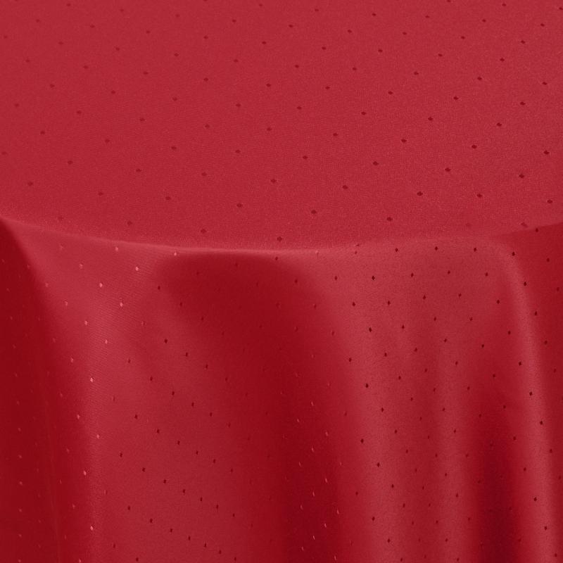 tischdecken damast rund mit saum punkte wein rot. Black Bedroom Furniture Sets. Home Design Ideas