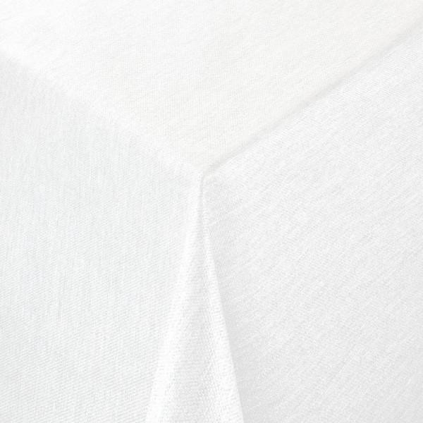 Tischdecken Jacquard-Gewebe mit Glanzeffekt und Fleckschutz Lurex in Creme