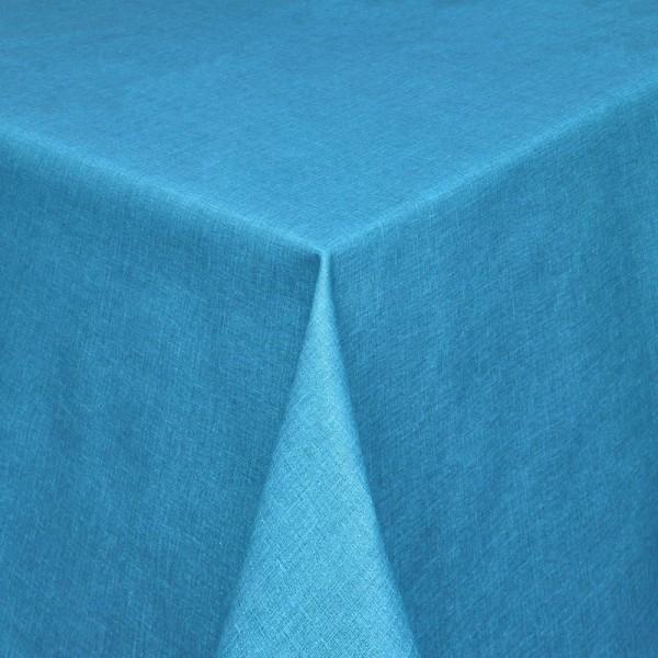 Tischdecken Olbia Jaquard-Gewebe in Blau mit Fleckschutz