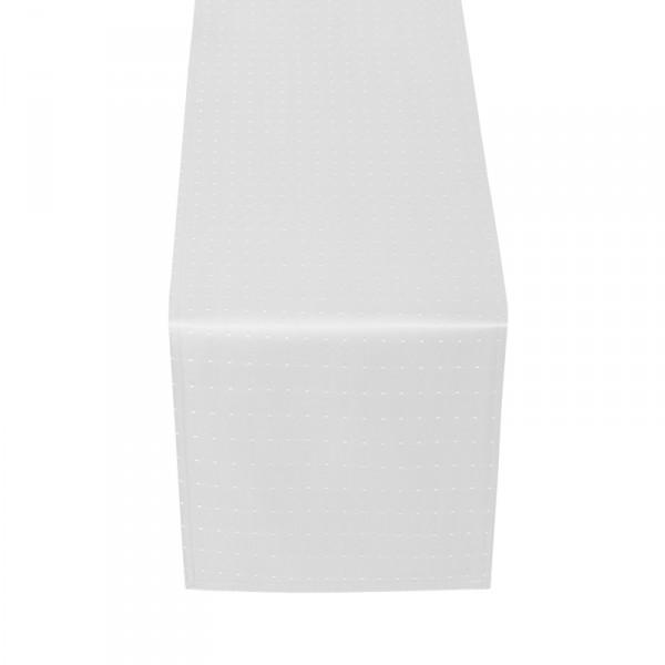 Tischläufer Tischband Punkte in Weiss