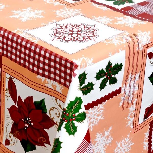 Tischdecke Abwaschbar Wachstuch Weihnachten Weihnachtsstern Wunschmaß