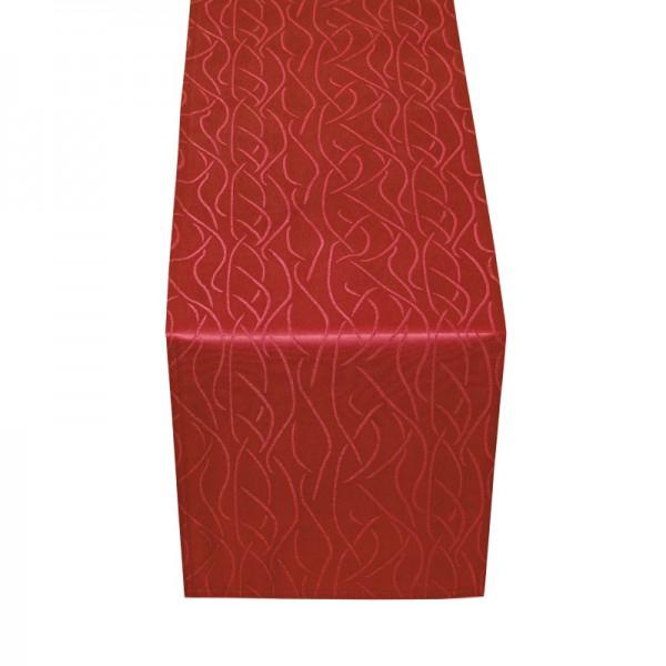 Tischläufer Tischband Streifen in Wein-Rot