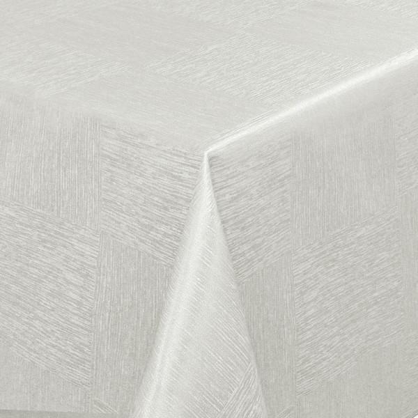 Tischdecken Jacquard-Gewebe mit Fleckschutz und Saum Melilla in Grau