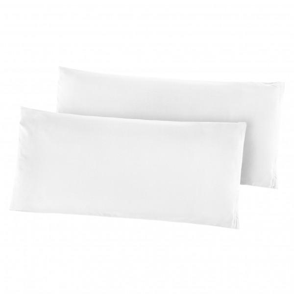 Kissenhüllen Mikrofaser 2er Pack 40x80 cm in Weiss