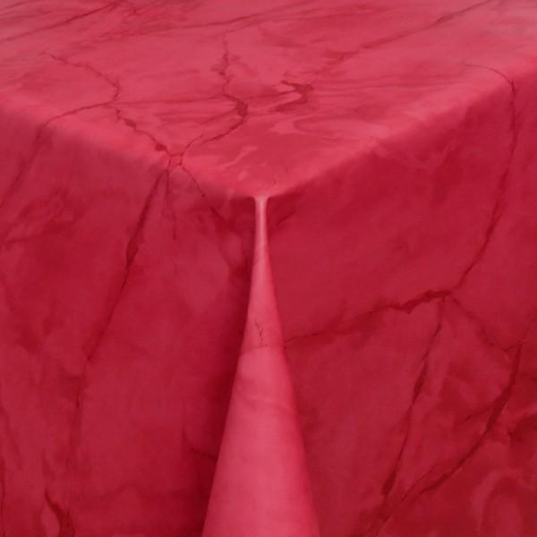 Tischdecke Abwaschbar Wachstuch Lebensmittelecht Marmor Rot