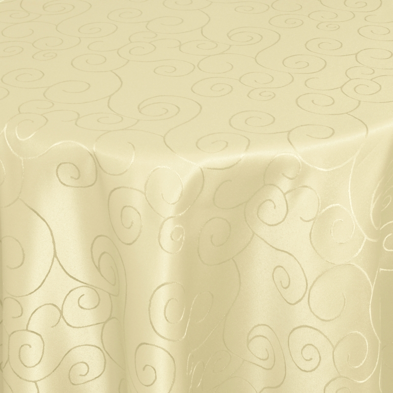 tischdecken damast oval mit saum ornamente creme beige. Black Bedroom Furniture Sets. Home Design Ideas
