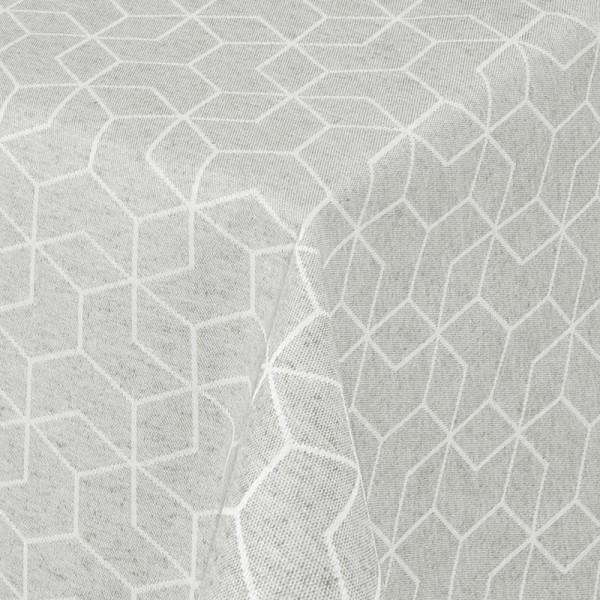 Tischdecken Jacquard-Gewebe mit Fleckschutz und Saum Lorca in Grau