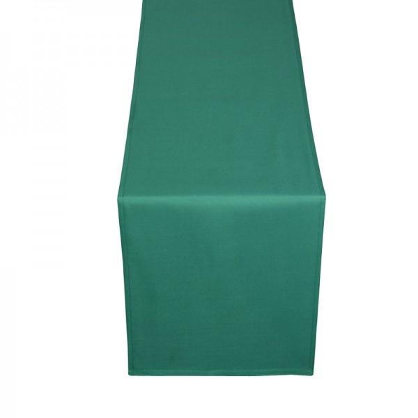 Tischläufer Tischband Uni in Dunkel-Grün