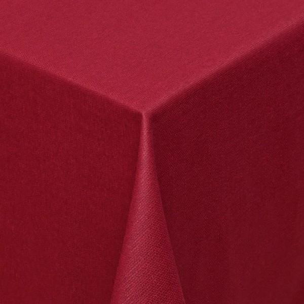 Tischdecken Jacquard-Gewebe mit Fleckschutz und Saum Parla in Wein-Rot