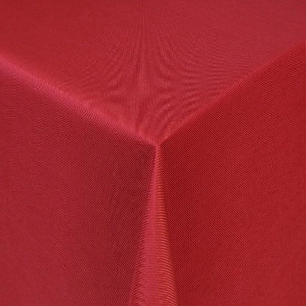 Tischdecken Damast Eckig mit Saum Uni Wein-Rot