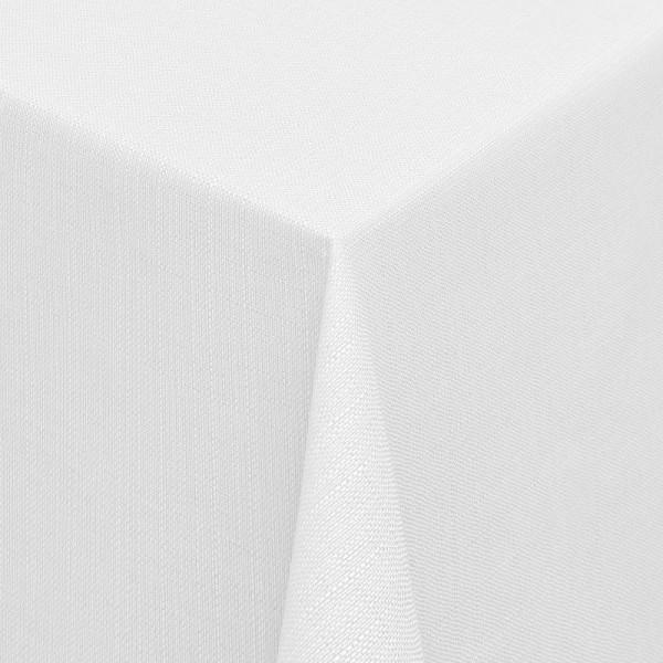 Tischdecken Jacquard-Gewebe mit Fleckschutz und Saum Alicante in Weiss