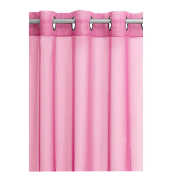 Vorhang Gardine Transparent Ösenschal Dekoschal mit Ösen in Pink