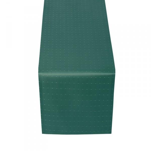 Tischläufer Tischband Punkte in Dunkel-Grün