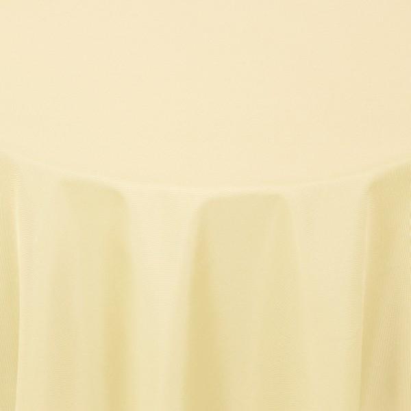 Tischdecken Damast Oval mit Saum Uni Creme-Beige