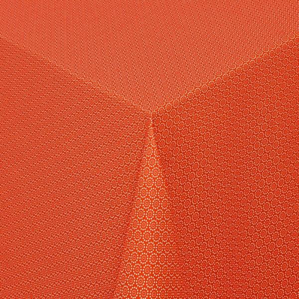 Tischdecken Viterbo 100% Baumwolle in Terra-Orange mit Fleckschutz