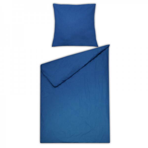 Bettwäsche Moderno Renforcé einfarbig in Blau