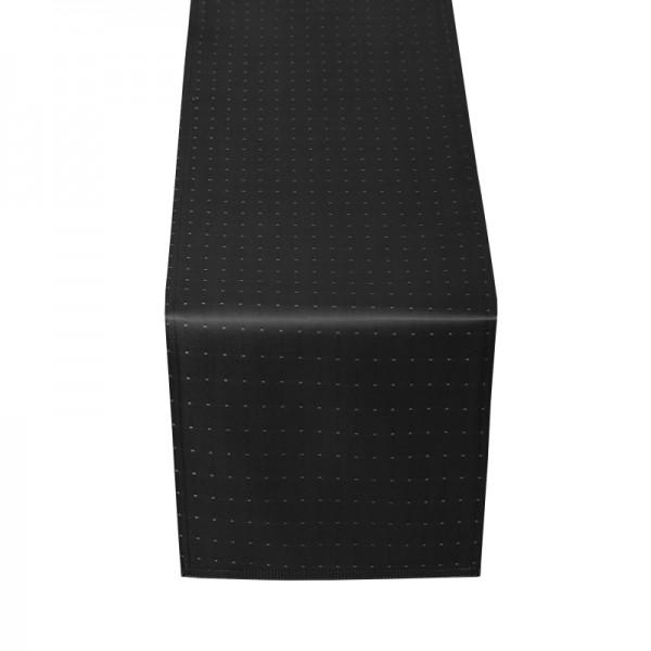 Tischläufer Tischband Punkte in Schwarz