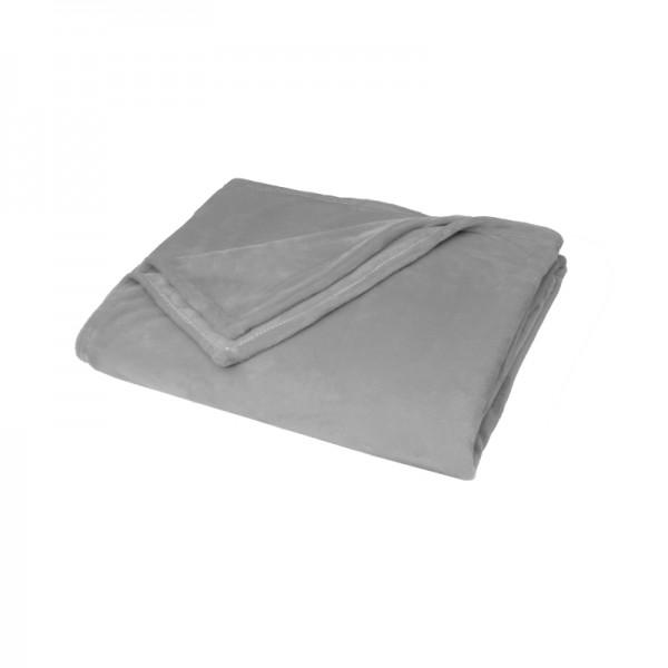 Kuscheldecke Supersoft Tagesdecke Wohndecke Bettüberwurf in Grau
