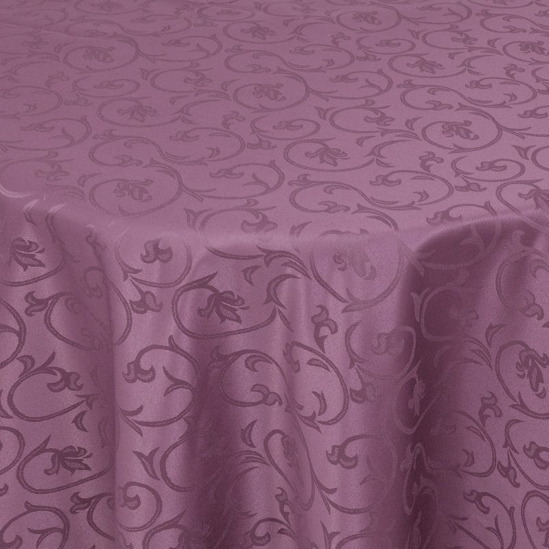 tischdecken damast oval mit saum barock lila. Black Bedroom Furniture Sets. Home Design Ideas