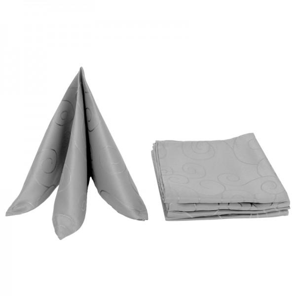 Servietten Damast Ornamente 50x50 Grau (6er Pack)