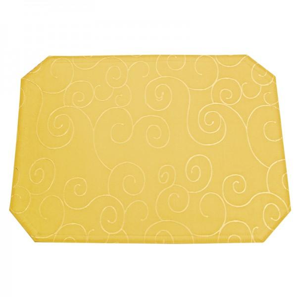 Tischsets Platzsets Ornamente 40x50 cm in Dunkel-Gelb