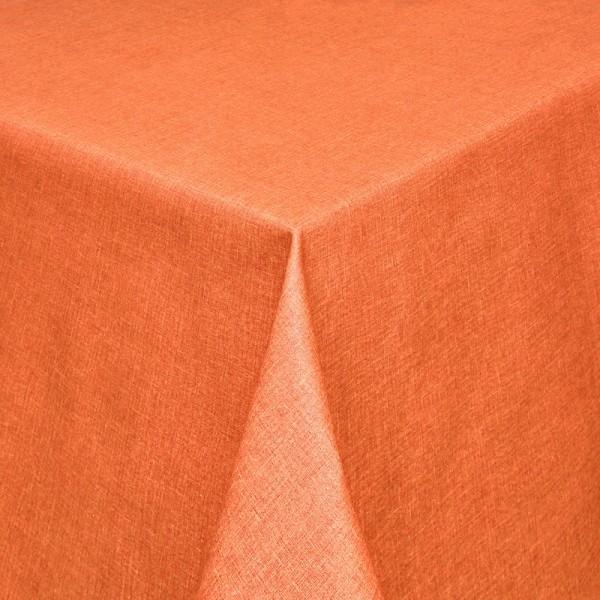 Tischdecken Olbia Jaquard-Gewebe in Apricot mit Fleckschutz