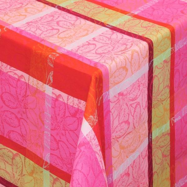Tischdecken Jacquard-Gewebe mit Fleckschutz und Saum Mijas Blumenmotiv