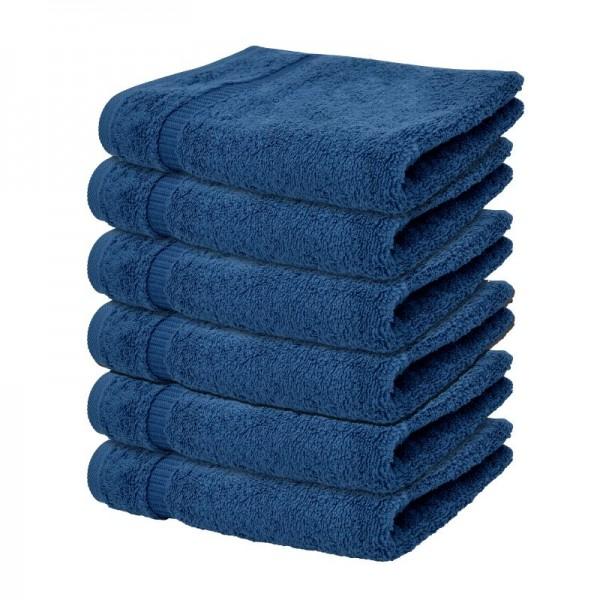 "Handtuch ""Mailand"" in Dunkel-Blau im 6er Pack"