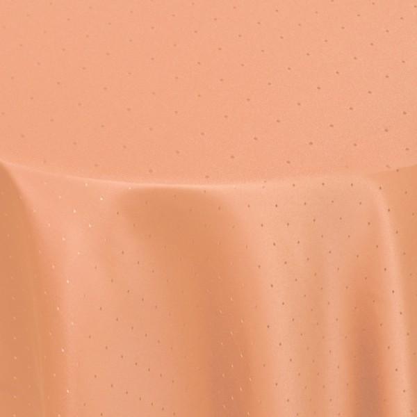 Tischdecken Damast Rund mit Saum Punkte Apricot