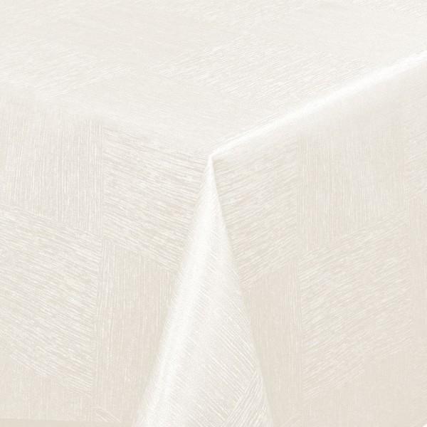 Tischdecken Jacquard-Gewebe mit Fleckschutz und Saum Melilla in Creme-Champagner