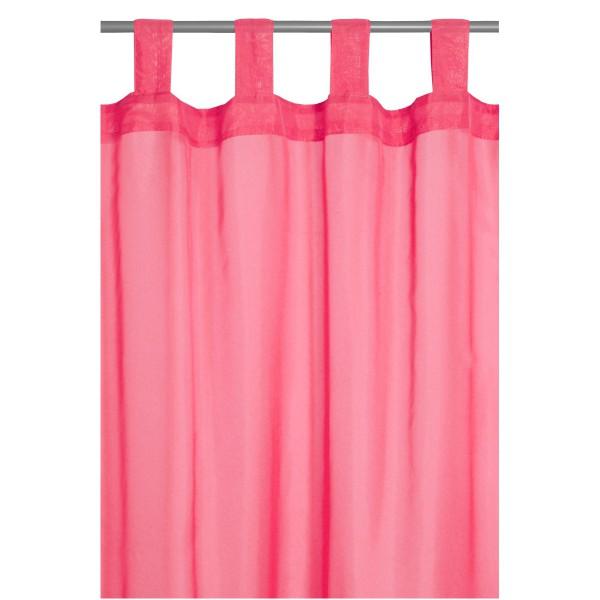 Vorhang Gardine Transparent Schlaufenschal Dekoschal in Pink