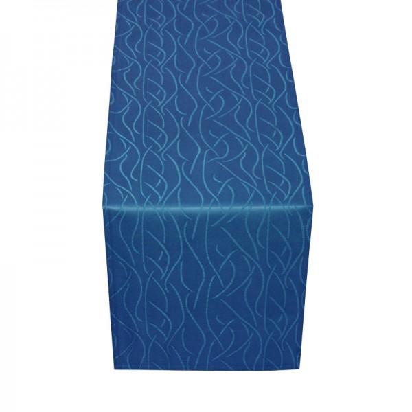 Tischläufer Tischband Streifen in Dunkel-Blau