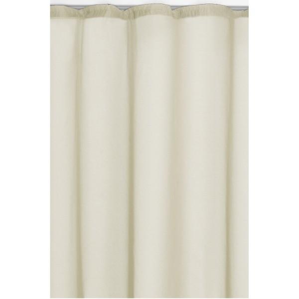 Vorhang Gardine Transparent Dekoschal mit Kräuselband in Creme-Champanger