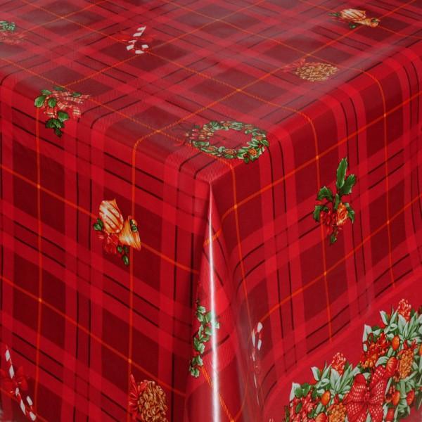 Tischdecke Abwaschbar Wachstuch Weihnachten mit Adventskranz Wunschmaß