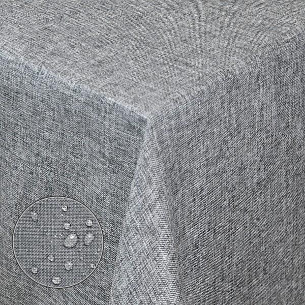 Tischdecke Stoff Damast Leinen Design mit Fleckschutz