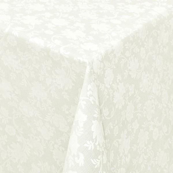 Tischdecken Jacquard-Gewebe mit Fleckschutz und Saum Badalona in Creme-Champagne
