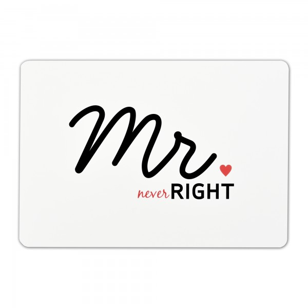Tischsets Mr. never Right 6er-Set Platzsets 30x45 cm