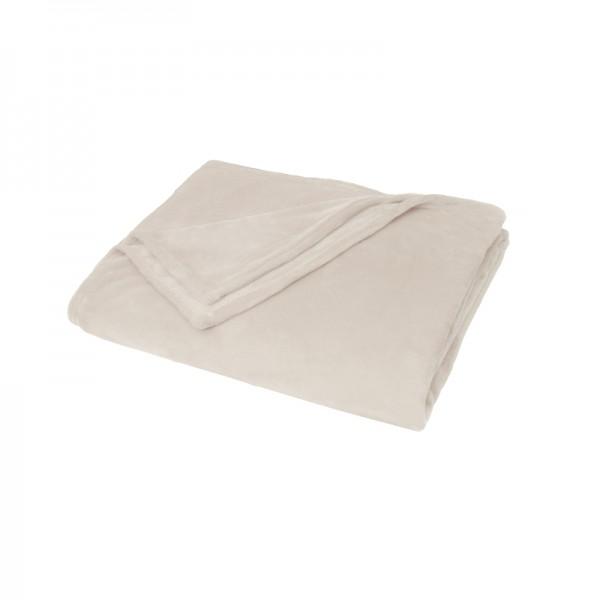 Kuscheldecke Supersoft Tagesdecke Wohndecke Bettüberwurf Creme-Beige