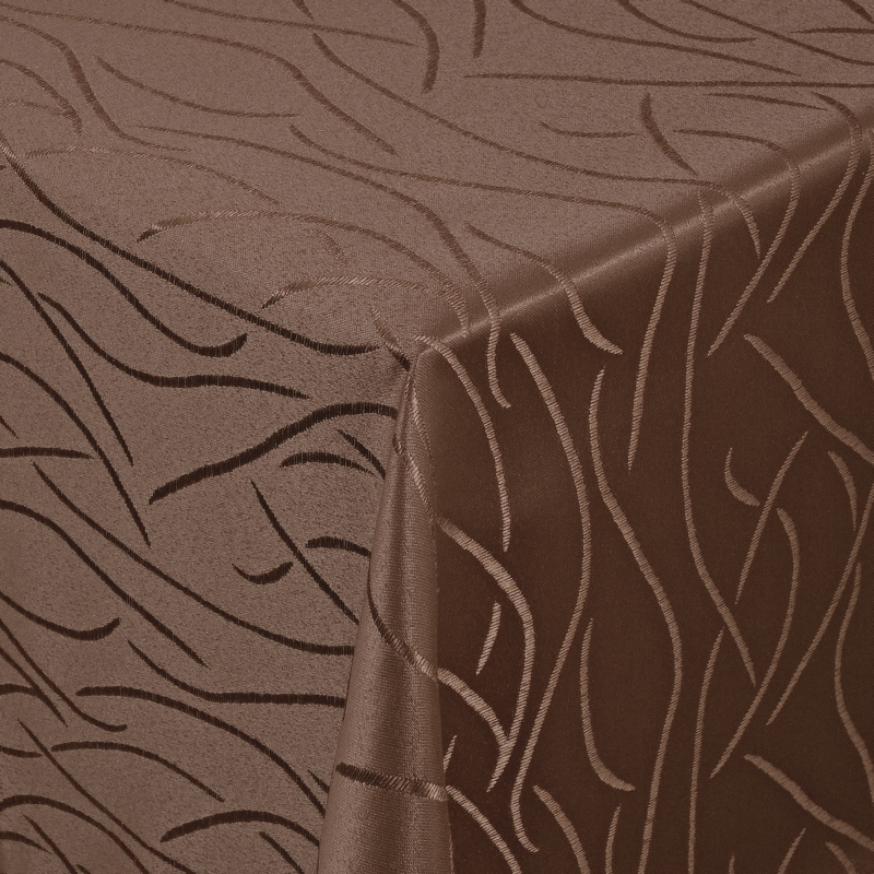 tischdecken damast eckig mit saum streifen dunkel braun. Black Bedroom Furniture Sets. Home Design Ideas