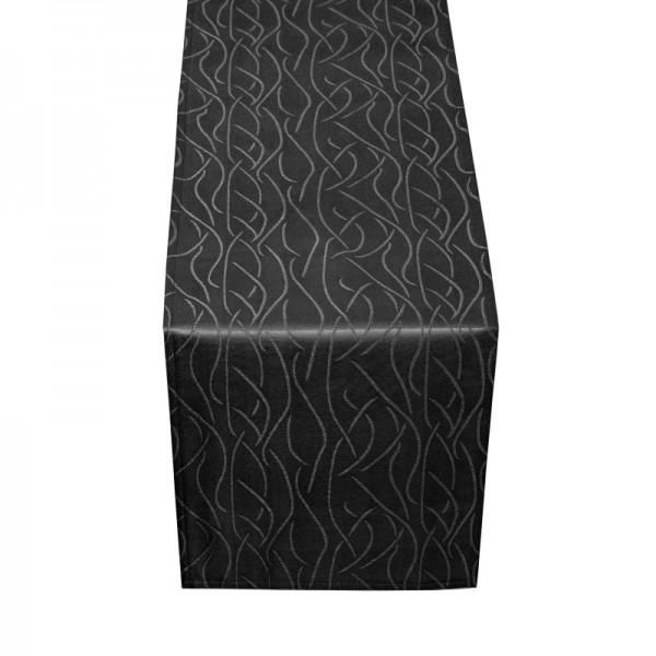 Tischläufer Tischband Streifen in Schwarz