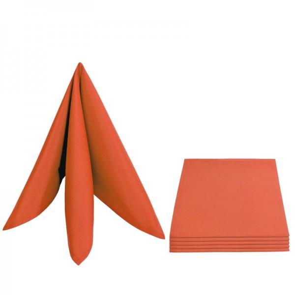 Servietten Damast Uni 50x50 Orange (6er Pack)