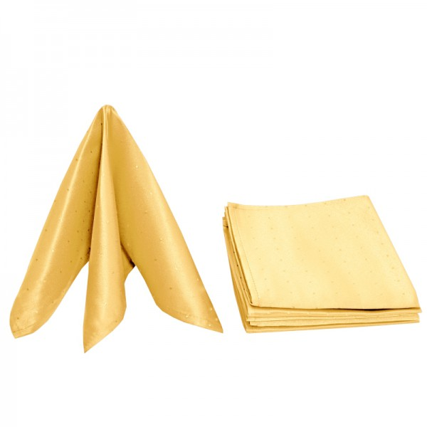 Servietten Damast Punkte 50x50 Dunkel-Gelb (6er Pack)