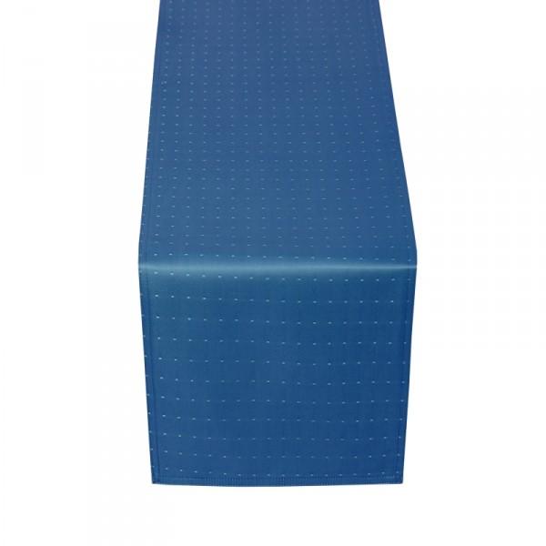 Tischläufer Tischband Punkte in Dunkel-Blau