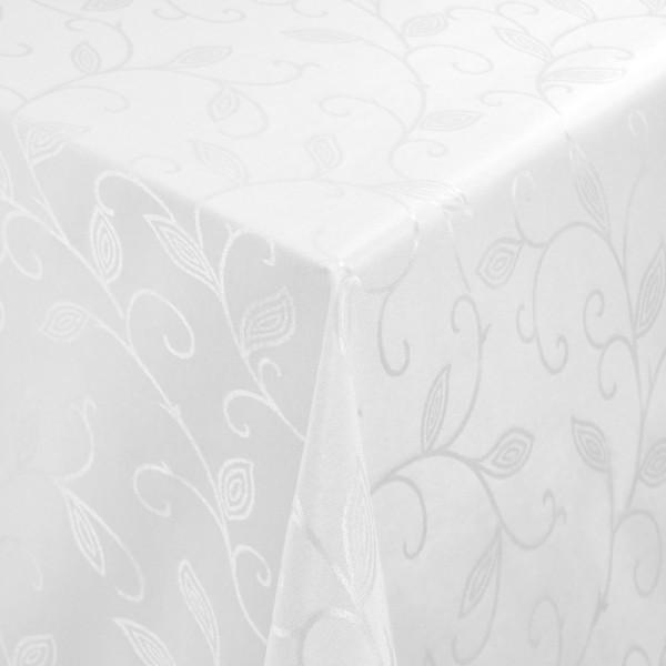 Tischdecken Jacquard-Gewebe mit Fleckschutz und Saum Romantik in Weiss