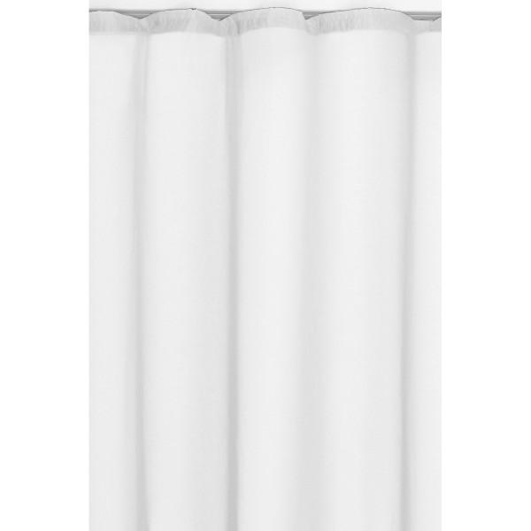 Vorhang Gardine Transparent Dekoschal mit Kräuselband in Weiss