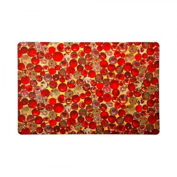 Tischsets 6er-Set Platzsets 30x45 cm Kugelmotiv Rot-Gold