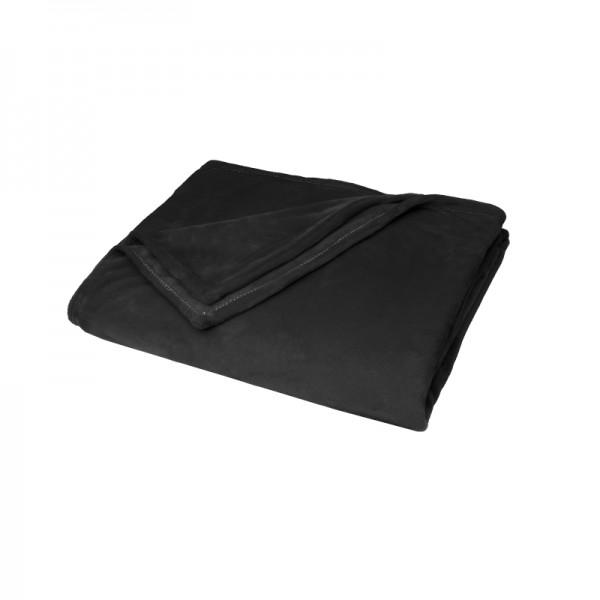 Kuscheldecke Supersoft Tagesdecke Wohndecke Bettüberwurf in Schwarz