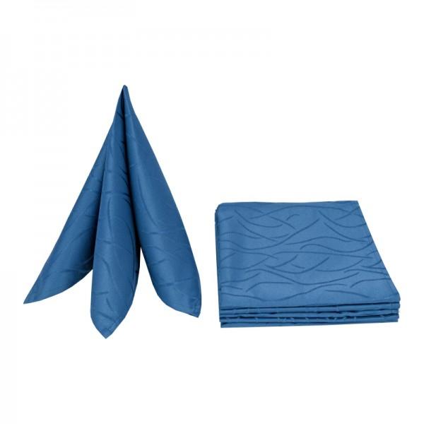 Servietten Damast Streifen 50x50 Dunkel-Blau (6er Pack)