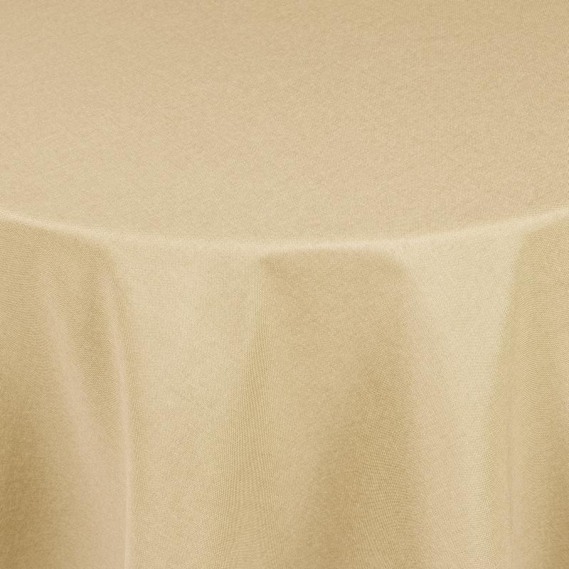 tischdecken damast oval mit saum leinen optik creme champagner. Black Bedroom Furniture Sets. Home Design Ideas