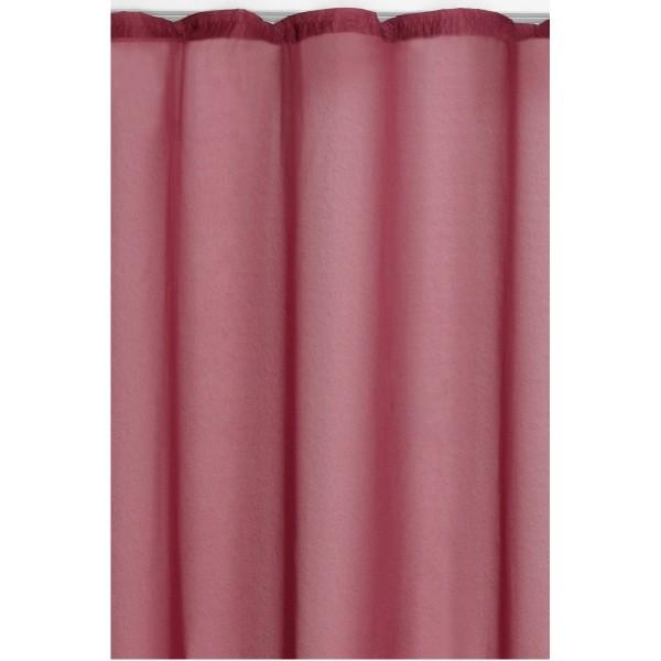 Vorhang Gardine Transparent Dekoschal mit Kräuselband in Rot